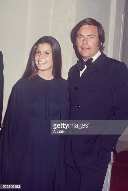 Robert Wagner with Tina Sinatra at a formal event when they were dating circa 1970 New York