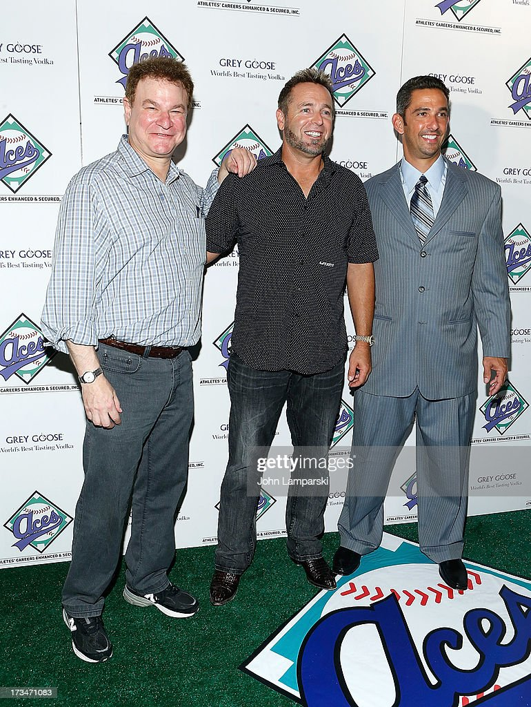 Robert Whul, Kevin Miller and <a gi-track='captionPersonalityLinkClicked' href=/galleries/search?phrase=Jorge+Posada&family=editorial&specificpeople=202157 ng-click='$event.stopPropagation()'>Jorge Posada</a> attend ACES Annual All Star Party at Marquee on July 14, 2013 in New York City.