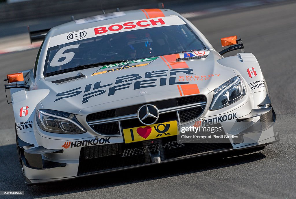 Robert Wickens (CAN) of DTM Team Silberpfeil Energy Mercedes AMG during a free practice session at the Norisring during Day 1 of the German Touring Car Championship 2016 - Session 4 on June 24, 2016 in Nuremberg, Germany.