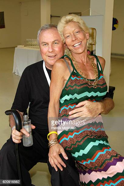 Robert Wilson and Lisa de Kooning attend Watermill Concert 2008 The Last Song of Summer Rufus Wainwright with his special guest Jessye Norman at...