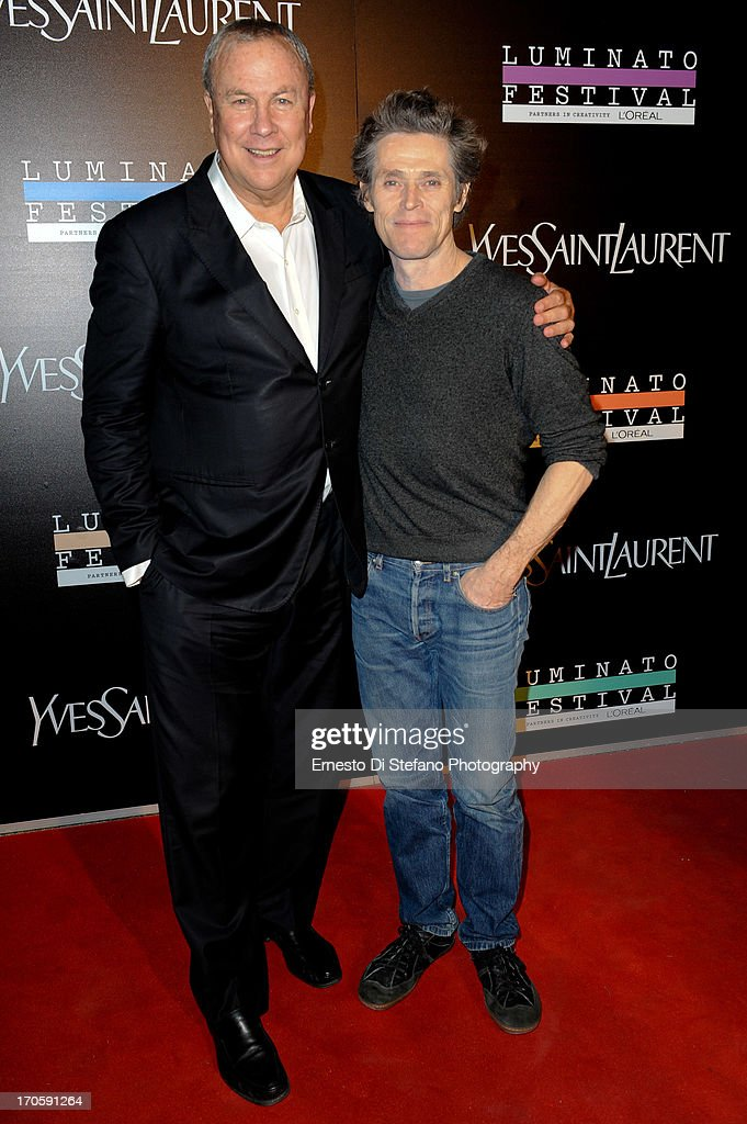 Robert Wilson and <a gi-track='captionPersonalityLinkClicked' href=/galleries/search?phrase=Willem+Dafoe&family=editorial&specificpeople=203171 ng-click='$event.stopPropagation()'>Willem Dafoe</a> attend 'Luminato' Toronto Opening Night at Brookfield Place on June 14, 2013 in Toronto, Canada.