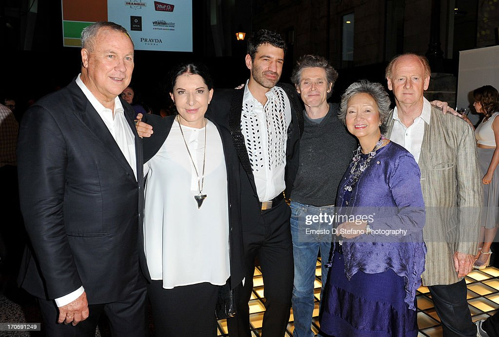 Robert Wilson, <a gi-track='captionPersonalityLinkClicked' href=/galleries/search?phrase=Marina+Abramovic&family=editorial&specificpeople=2315598 ng-click='$event.stopPropagation()'>Marina Abramovic</a>, Jorn Weisbrodt, <a gi-track='captionPersonalityLinkClicked' href=/galleries/search?phrase=Willem+Dafoe&family=editorial&specificpeople=203171 ng-click='$event.stopPropagation()'>Willem Dafoe</a>, <a gi-track='captionPersonalityLinkClicked' href=/galleries/search?phrase=Adrienne+Clarkson&family=editorial&specificpeople=239492 ng-click='$event.stopPropagation()'>Adrienne Clarkson</a>, John Ralston Saul attend 'Luminato' Toronto Opening Night at Brookfield Place on June 14, 2013 in Toronto, Canada.
