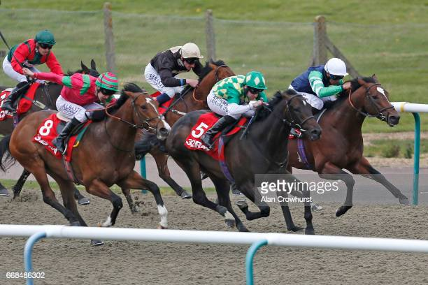 Robert Winston riding Second Thought win The 32Red 3 Year Old AllWeather Championships Conditions Stakes during The All Weather Championships Finals...