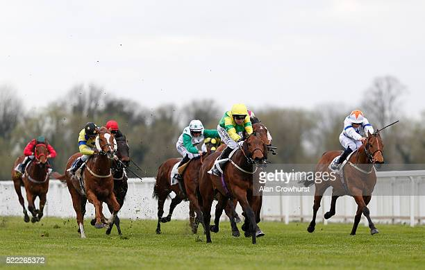 Robert Winston riding Stake Acclaim win The Royal Windsor Horse Show Handicap Stakes at Windsor Racecourse on April 18 2016 in Windsor England