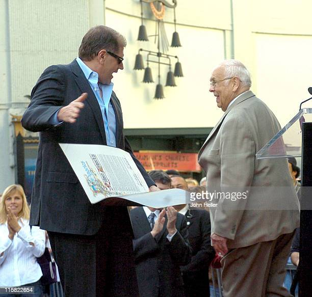 Robert Zemeckis and Johnny Grant during Director Robert Zemeckis Honored with a Star on the Hollywood Walk of Fame for His Achievements in Film at...