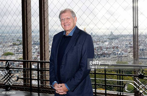 Robert Zemeckis attends the 'The Walk Rever Plus Haut' photocall at Eiffel Tower on October 6 2015 in Paris France