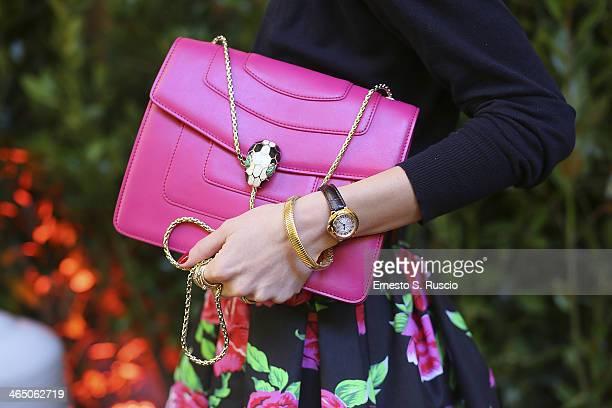 Roberta Altavilla wears Prada bag Cartier watch Ray Ban sunglasses on day 2 Rome Fashion Week Spring/Summer 2014 on January 23 2014 in Parisin Rome...
