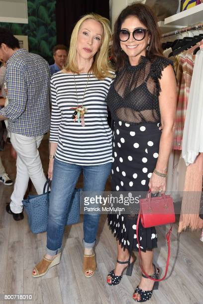Roberta Amon and Caroline Hirsch attend Lisa Jackson hosts LJ Cross Rose Shopping Event at Copious Row on June 24 2017 in Southampton New York