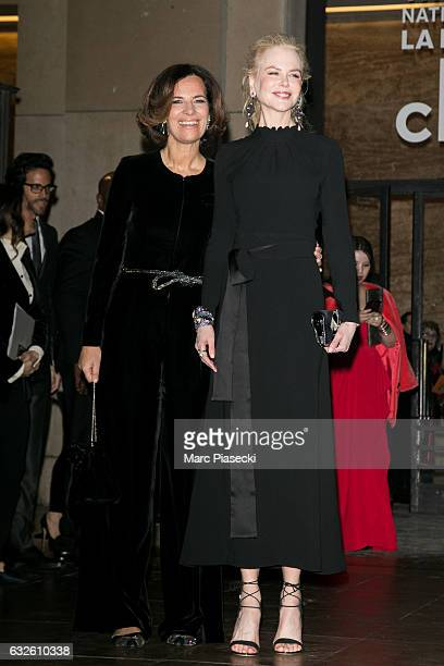 Roberta Armani and actress Nicole Kidman attend the Giorgio Armani Prive Haute Couture Spring Summer 2017 show as part of Paris Fashion Week on...