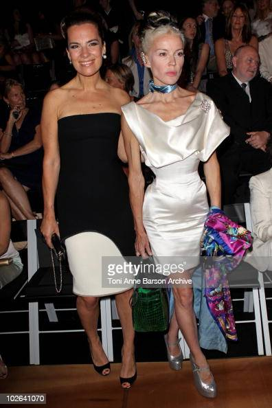 Roberta Armani and Daphne Guinness attend the Giorgio Armani show as part of the Paris Haute Couture Fashion Week Fall/Winter 2011 Espace Vendome on...