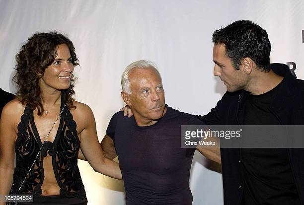 Roberta Armani and Giorgio Armani during Giorgio Armani Receives The First Rodeo Drive Walk Of Style Award Arrivals at Rodeo Drive Walk Of Style in...