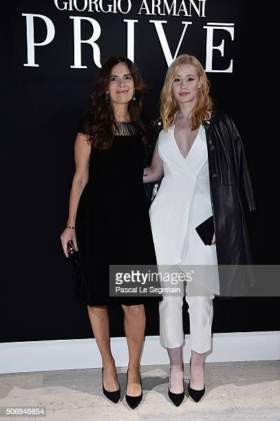 Roberta Armani and Iggy Azalea attend the Giorgio Armani Prive Spring Summer 2016 show as part of Paris Fashion Week on January 26 2016 in Paris...