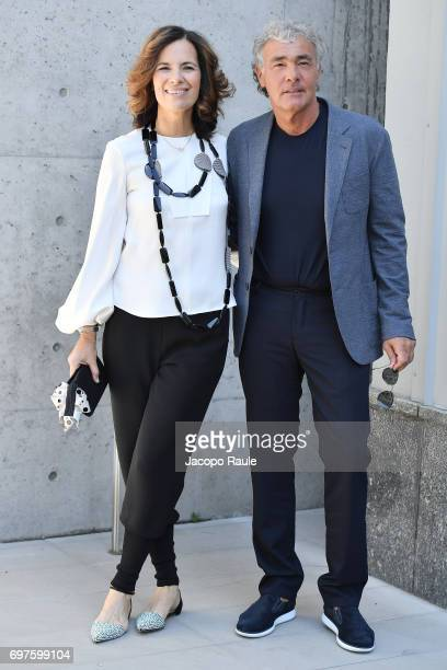 Roberta Armani and Massimo Giletti attend the Giorgio Armani show during Milan Men's Fashion Week Spring/Summer 2018 on June 19 2017 in Milan Italy