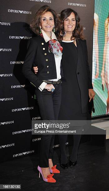 Roberta Armani and Nati Abascal attend Emporio Armani boutique opening on April 8 2013 in Madrid Spain