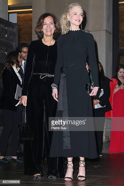 Roberta Armani and Nicole Kidman arrive at the Giorgio Armani Prive Haute Couture Spring Summer 2017 show as part of Paris Fashion Week on January 24...