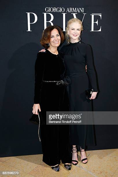 Roberta Armani and Nicole Kidman dressed in Armani attend the Giorgio Armani Prive Haute Couture Spring Summer 2017 show as part of Paris Fashion...