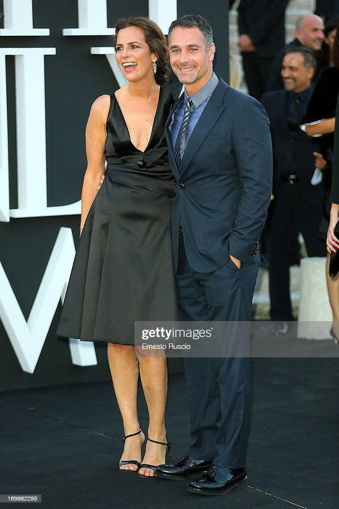 Roberta Armani and Raoul Bova attend 'One Night Only' hosted by Giorgio Armani at Museo Della Civilta Del Lavoro in Roma on June 5, 2013 in Rome, Italy.