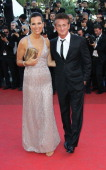 Roberta Armani and Sean Penn attend the 'This Must Be The Place' Premiere during the 64th Cannes Film Festival at the Palais des Festivals on May 20...