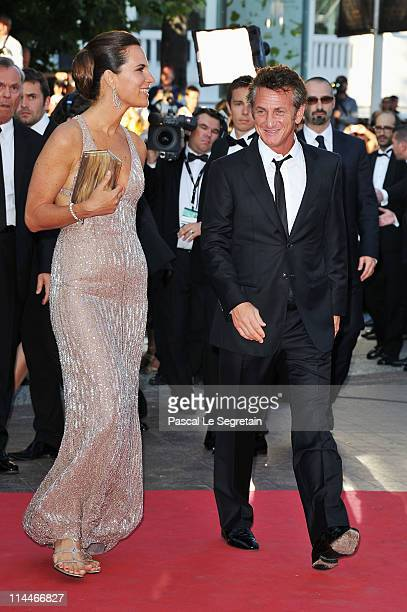 Roberta Armani and Sean Penn attend the 'This Must Be The Place' premiere during the 64th Annual Cannes Film Festival at Palais des Festivals on May...
