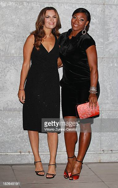 Roberta Armani and Serena Williams attend the Giorgio Armani Spring/Summer 2013 fashion show as part of Milan Womenswear Fashion Week on September 23...