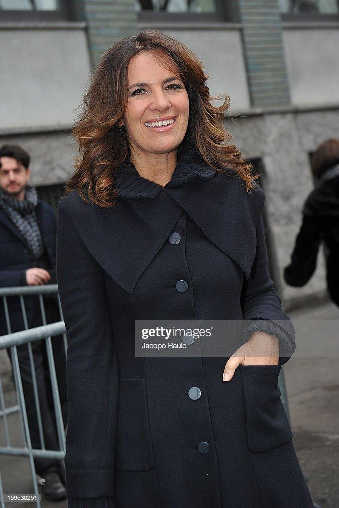 Roberta Armani arrives at Giorgio Armani during Milan Fashion Week Menswear Autumn/Winter 2013 on January 15, 2013 in Milan, Italy.