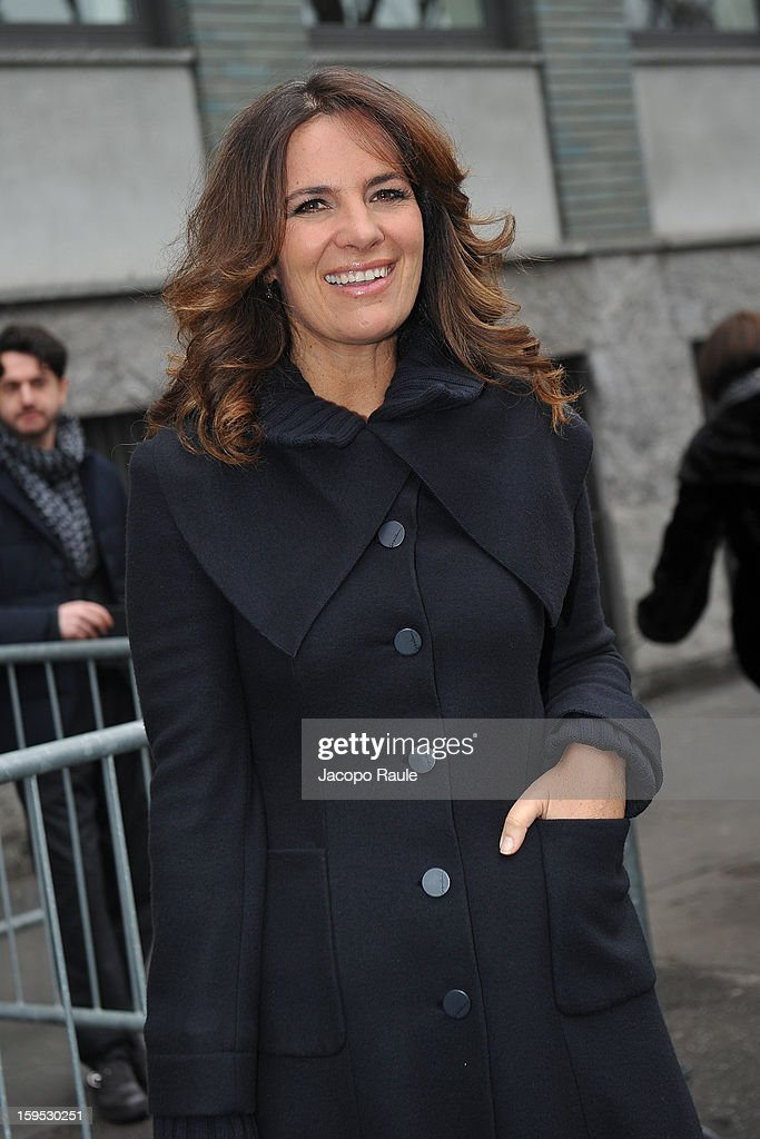 Roberta Armani arrives at Giorgio Armani during Milan Fashion Week Menswear Autumn/Winter 2013 on January 15, 2013 in Milan, Italy.