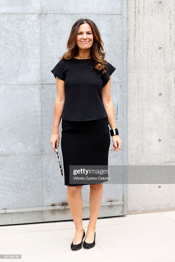 <a gi-track='captionPersonalityLinkClicked' href=/galleries/search?phrase=Roberta+Armani&family=editorial&specificpeople=2082135 ng-click='$event.stopPropagation()'>Roberta Armani</a> attends Giorgio Armani show during Milan Menswear Fashion Week Spring Summer 2015 on June 24, 2014 in Milan, Italy.