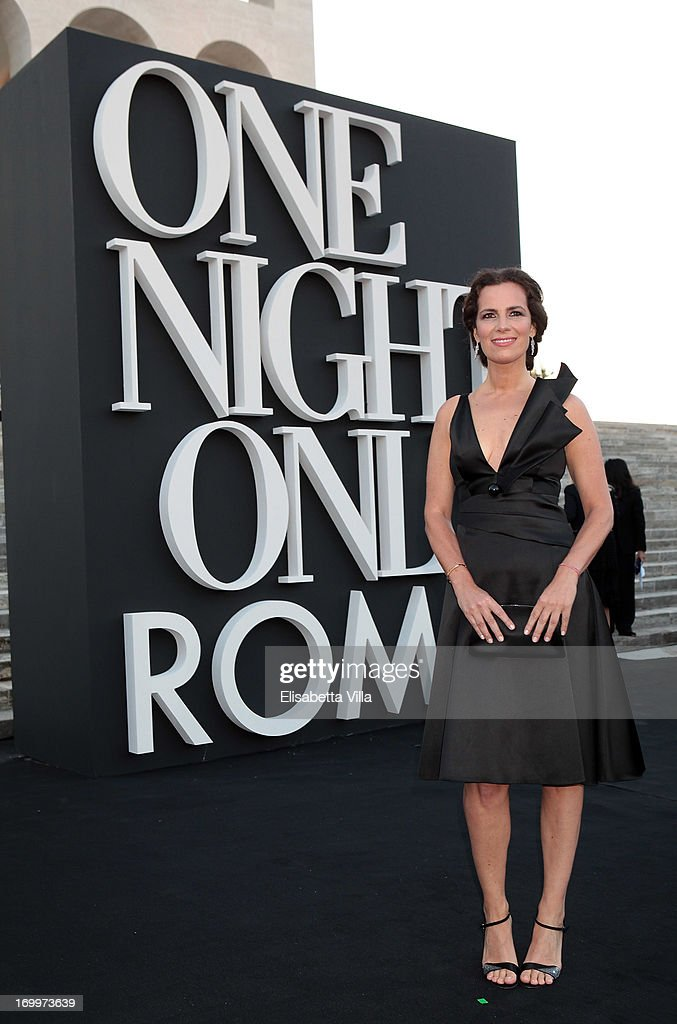 <a gi-track='captionPersonalityLinkClicked' href=/galleries/search?phrase=Roberta+Armani&family=editorial&specificpeople=2082135 ng-click='$event.stopPropagation()'>Roberta Armani</a> attends 'One Night Only' Roma hosted by Giorgio Armani at Palazzo Civilta Italiana on June 5, 2013 in Rome, Italy.