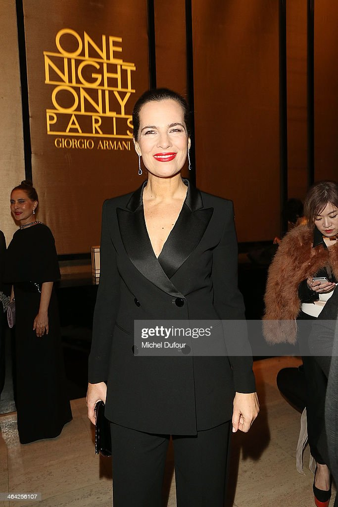 <a gi-track='captionPersonalityLinkClicked' href=/galleries/search?phrase=Roberta+Armani&family=editorial&specificpeople=2082135 ng-click='$event.stopPropagation()'>Roberta Armani</a> attends the Giorgio Armani Prive show as part of Paris Fashion Week Haute Couture Spring/Summer 2014 on January 21, 2014 in Paris, France.