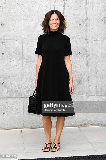 Roberta Armani attends the Giorgio Armani show during Milan Men's Fashion Week SS17 on June 21 2016 in Milan Italy