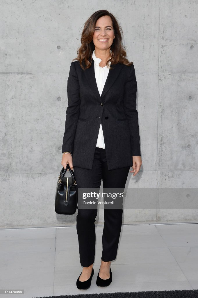 Roberta Armani attends the Giorgio Armani show during Milan Menswear Fashion Week Spring Summer 2014 on June 25, 2013 in Milan, Italy.
