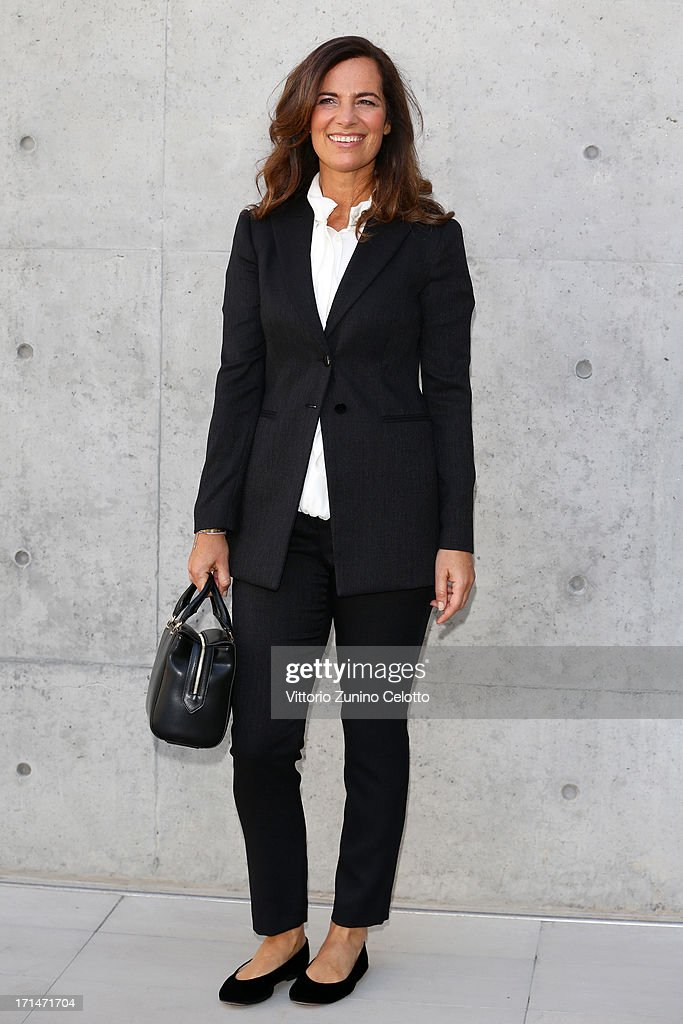 <a gi-track='captionPersonalityLinkClicked' href=/galleries/search?phrase=Roberta+Armani&family=editorial&specificpeople=2082135 ng-click='$event.stopPropagation()'>Roberta Armani</a> attends the Giorgio Armani show during Milan Menswear Fashion Week Spring Summer 2014 on June 25, 2013 in Milan, Italy.