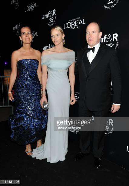 Roberta Armani Charlene Wittstock and Prince Albert of Monaco attend amfAR's Cinema Against AIDS Gala after party during the 64th Annual Cannes Film...