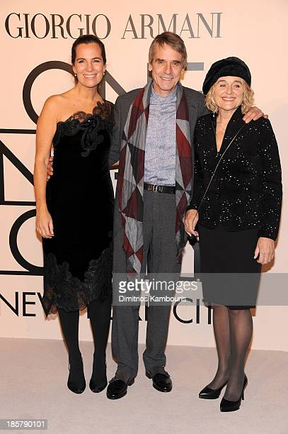 Roberta Armani Jeremy Irons and Sinead Cusack attend Giorgio Armani One Night Only NYC at SuperPier on October 24 2013 in New York City
