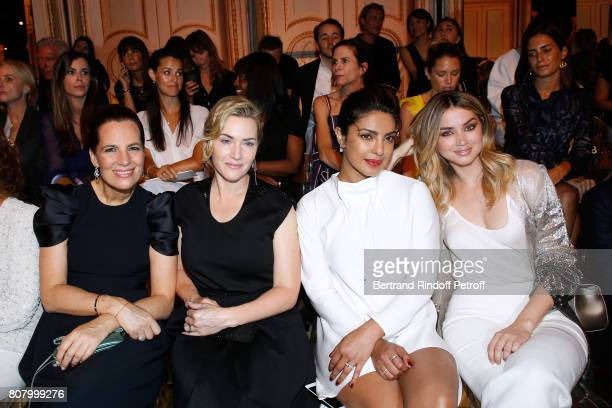 Roberta Armani Kate Winslet Priyanka Chopra and Ana de Armas attend the Giorgio Armani Prive Haute Couture Fall/Winter 20172018 show as part of Haute...