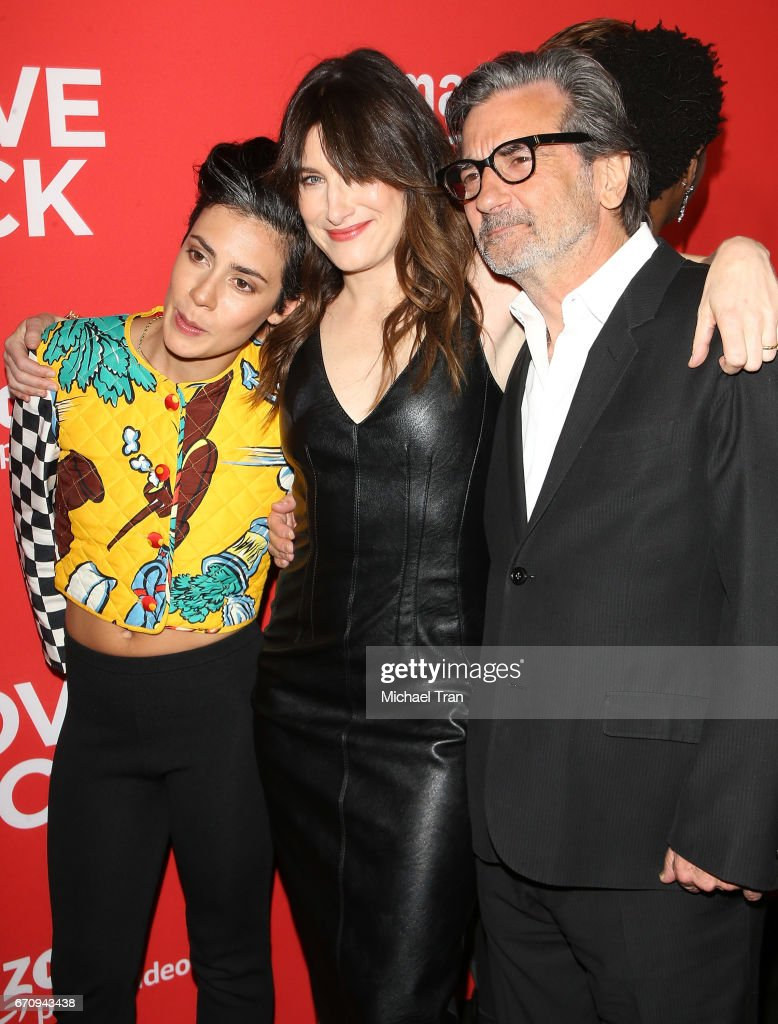 Roberta Colindrez, Kathryn Hahn and Griffin Dunne arrive at the Los Angeles premiere of Amazon's 'I Love Dick' held at Linwood Dunn Theater on April 20, 2017 in Los Angeles, California.