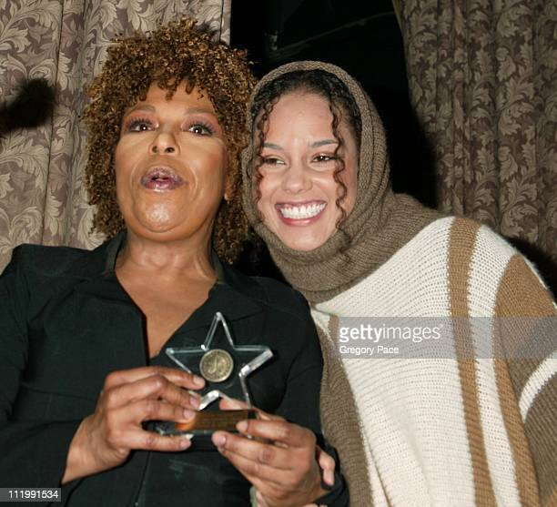 Roberta Flack and Alicia Keys during Artist Empowerment Coalition Luncheon Honoring the Nominees of the 45 Annual Grammy Awards at New York Hilton...