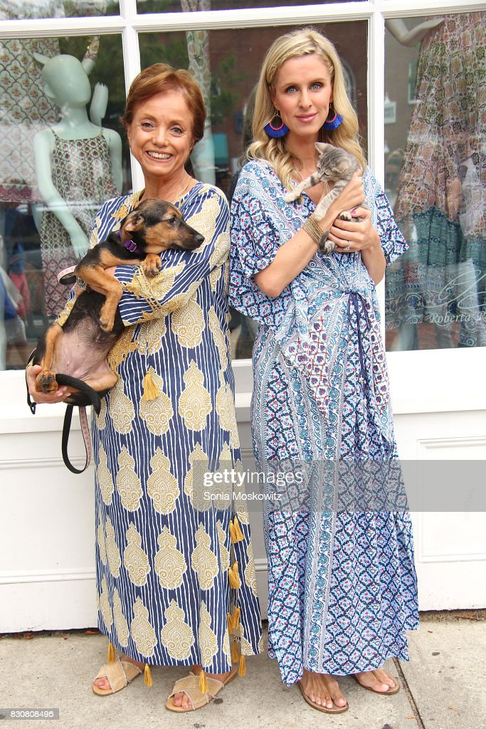 Roberta Freymann and Nicky Hilton Rothschild attend the Roller Rabbit Charity Shopping Event to benefit Animal Haven on August 12, 2017 in East Hampton, New York.