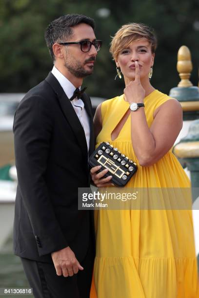 Roberta Giarrusso and Riccardo Pasquale are seen arriving at Hotel Excelsior during the 74 Venice Film Festival on August 31 2017 in Venice Italy