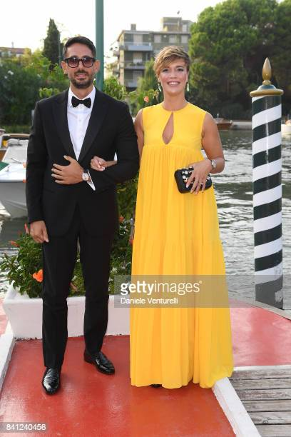 Roberta Giarrusso and Riccardo Pasquale is seen during the 74th Venice Film Festival on August 31 2017 in Venice Italy