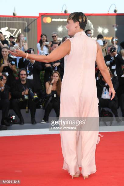Roberta Giarrusso walks the red carpet ahead of the 'Downsizing' screening and Opening Ceremony during the 74th Venice Film Festival at Sala Grande...