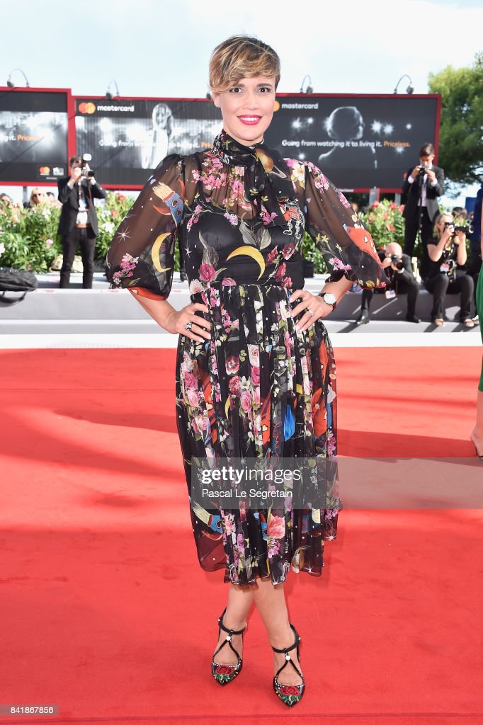 Roberta Giarrusso walks the red carpet ahead of the 'Foxtrot' screening during the 74th Venice Film Festival at Sala Grande on September 2, 2017 in Venice, Italy.