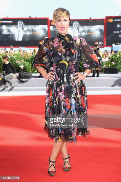 Roberta Giarrusso walks the red carpet ahead of the 'Foxtrot' screening during the 74th Venice Film Festival at Sala Grande on September 2 2017 in...