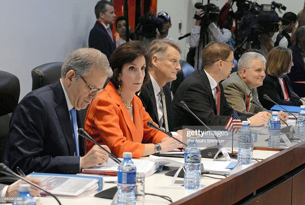 Roberta Jacobson US Assistant Secretary of State for Western Hemisphere Affairs sits down for talks with the Cuban government to discuss diplomatic...