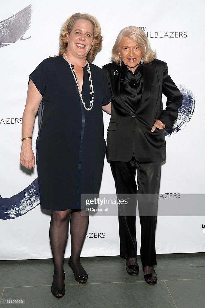 <a gi-track='captionPersonalityLinkClicked' href=/galleries/search?phrase=Roberta+Kaplan&family=editorial&specificpeople=10620260 ng-click='$event.stopPropagation()'>Roberta Kaplan</a> (L) and Edie Windsor attend LOGO TV's 1st Annual Trailblazers event at the Cathedral of St. John the Divine on June 23, 2014 in New York City.