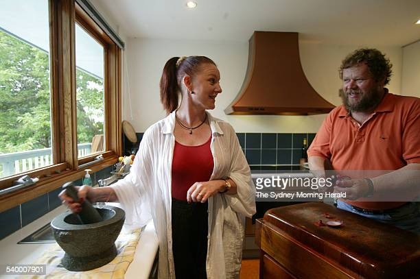 Roberta Muir and Franz Scheurer at home in Frenchs Forest 20 March 2006 SMH Picture by NATALIE BOOG