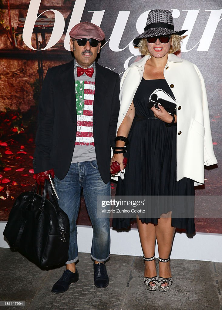 Roberta Murr and Antonio Murr attend the Blugirl show as a part of Milan Fashion Week Womenswear Spring/Summer 2014 on September 19, 2013 in Milan, Italy.