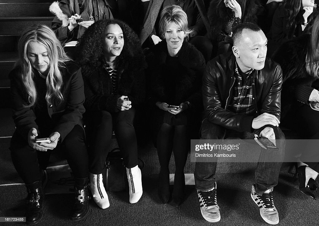 Roberta Myers and Joe Zee attend the Marc Jacobs Collection Fall 2013 fashion show during Mercedes-Benz Fashion Week at New York Armory on February 14, 2013 in New York City.