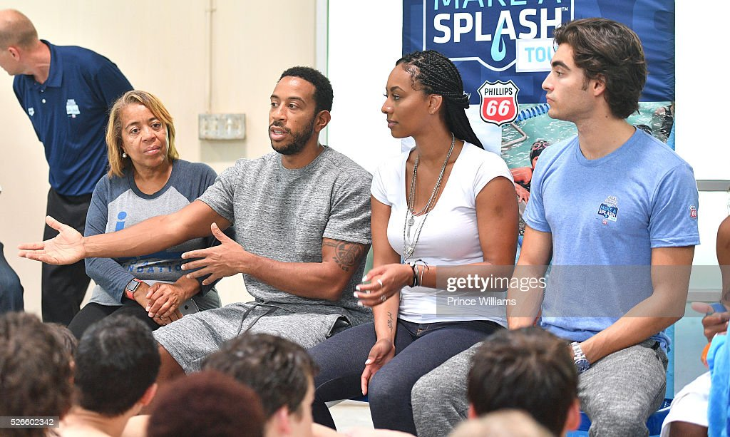 Roberta Shields, Ludacris, Keri Hilson and Blake Michael attend water safety and fitness at Carrie Steele Pitts Life Learning Center on April 30, 2016 in Atlanta, Georgia.