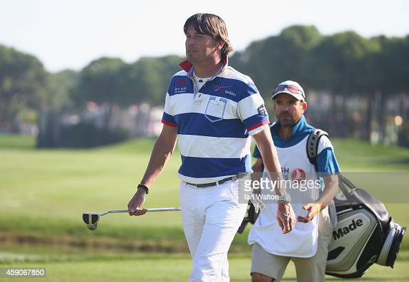 RobertJan Derksen of The Netherlands during his last european tour golf competition during the final round of the 2014 Turkish Airlines Open at The...
